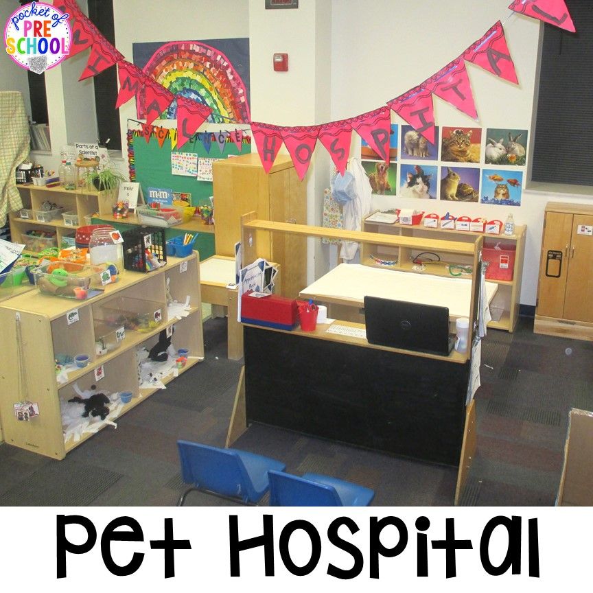 Classroom Pet Ideas : Vet animal hospital dramatic play pocket of preschool