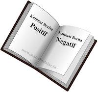 Pengertian, Contoh Kalimat Berita Positif Dan Negatif