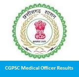 CGPSC Medical Officer Results