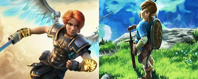 Comparison of Immortals Fenyx Rising vs BOTW