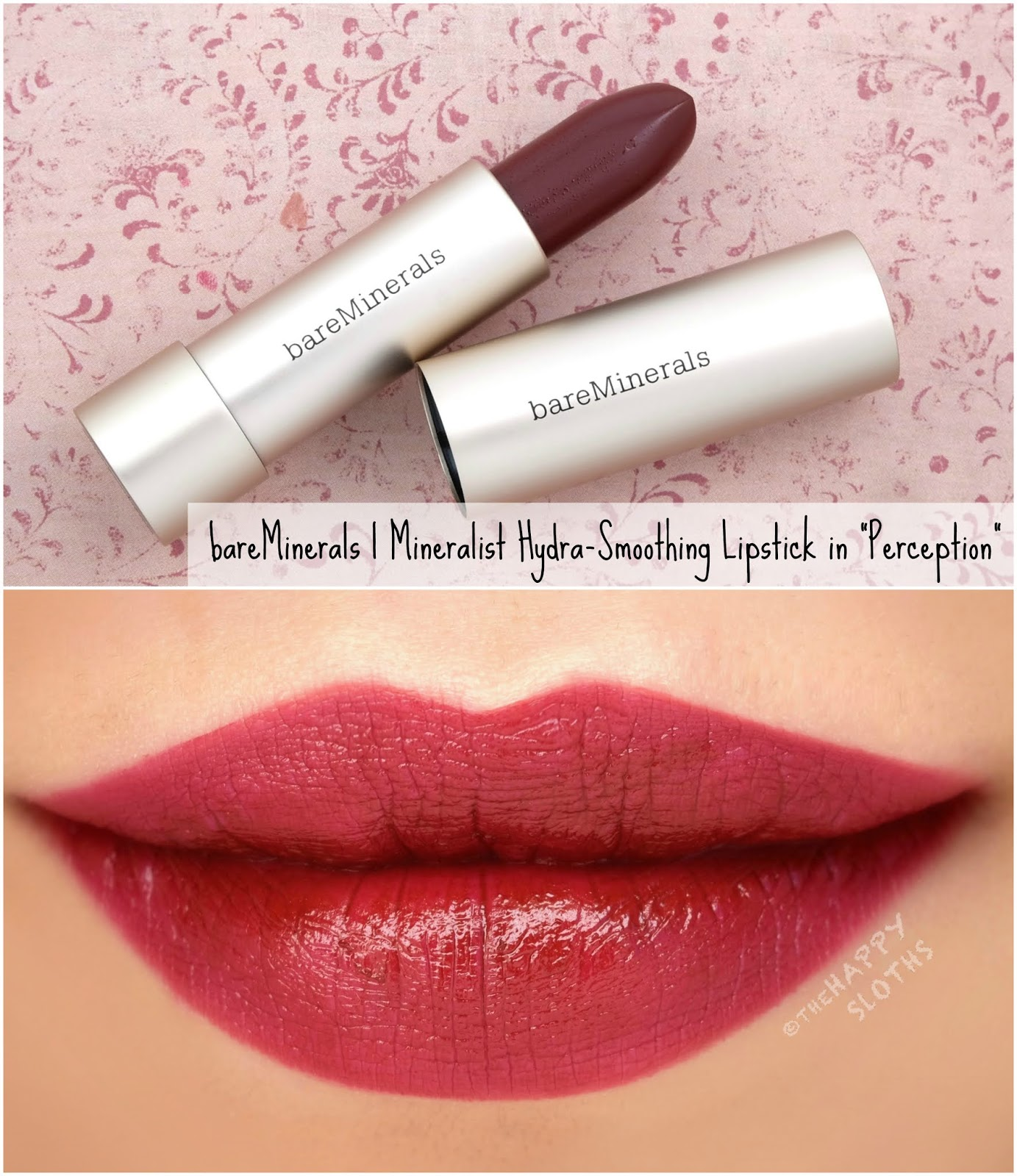 "bareMinerals | Mineralist Hydra-Smoothing Lipstick in ""Perception"": Review and Swatches"