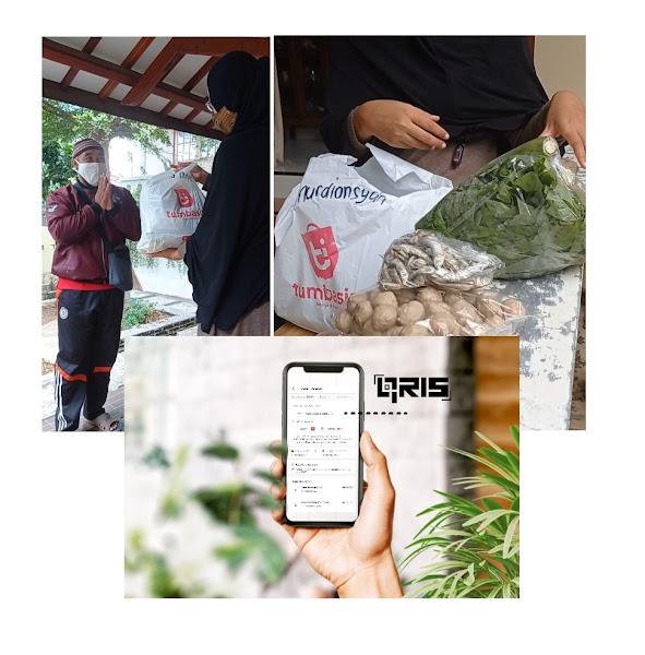 Belanja lewat aplikasi pasar tradisional bayar pakai QRIS