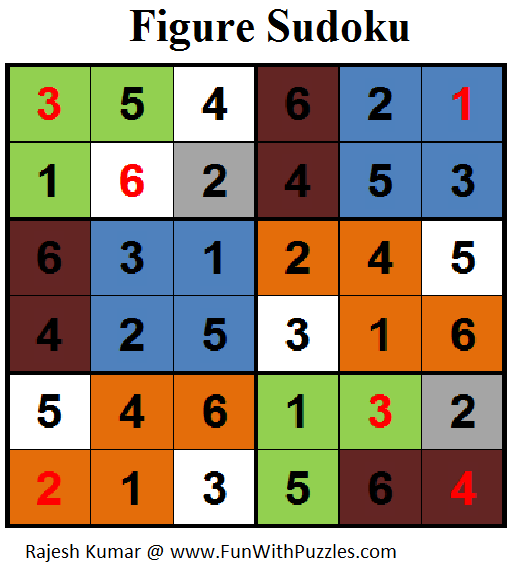 Figure Sudoku (Mini Sudoku Series #76) Solution