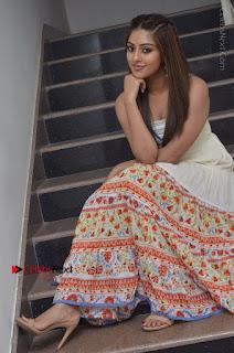 Telugu Actress Anu Emmanuel New Stills in Beautiful White Long Dress  0066.JPG