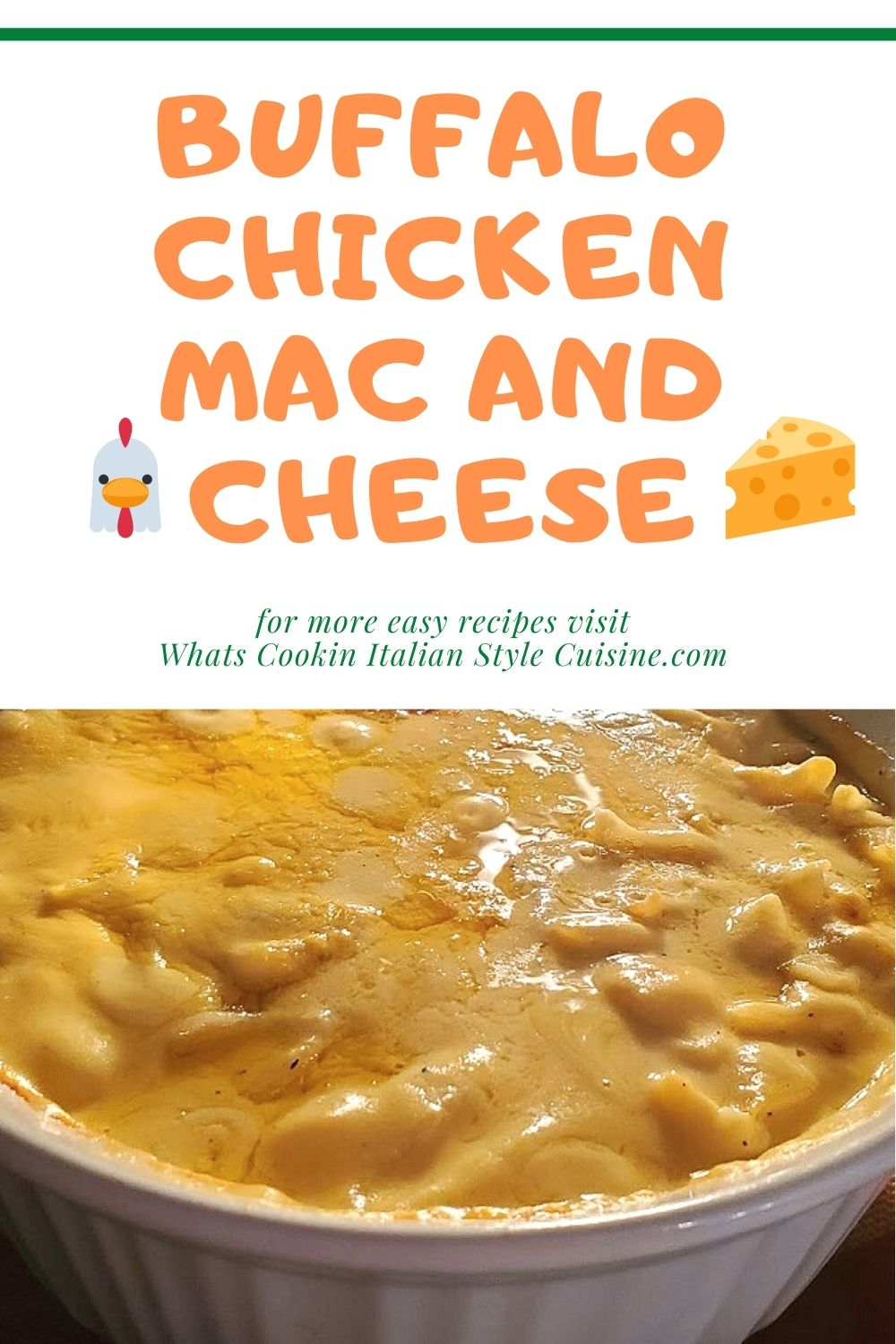 Pin for later casserole with buffalo chicken cheese and pasta