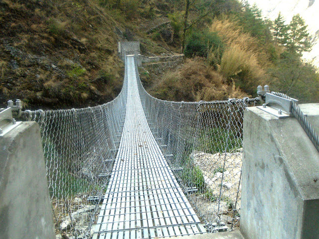 Suspension Bridge in Manaslu