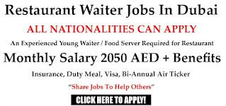 Restaurant Hostess, Waiter, Waitress Job In Dubai