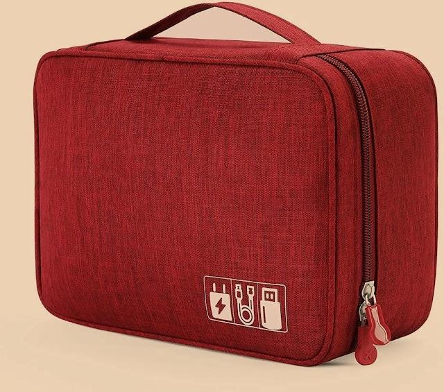 TECH GADGET BAG  PHONE CAMERA USB CABLE  FOR TRAVEL CARRY BAG