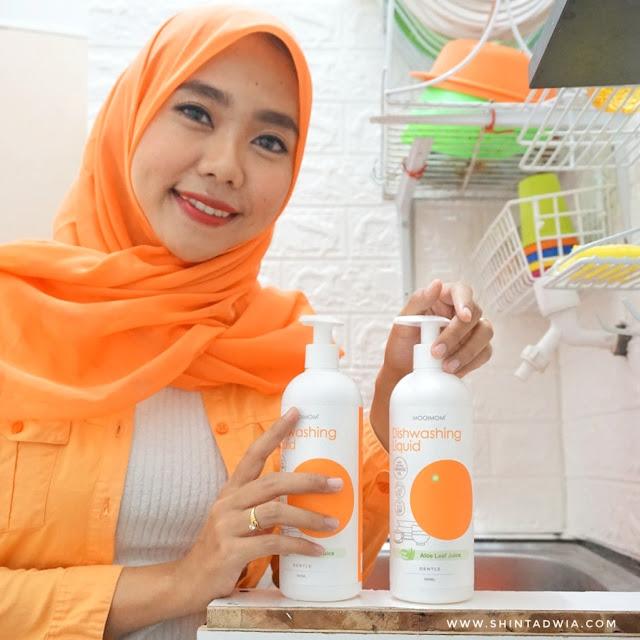 review oh my orange diswashing liquid