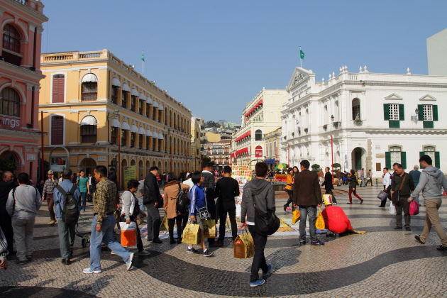 Busy Senado Square of Macau