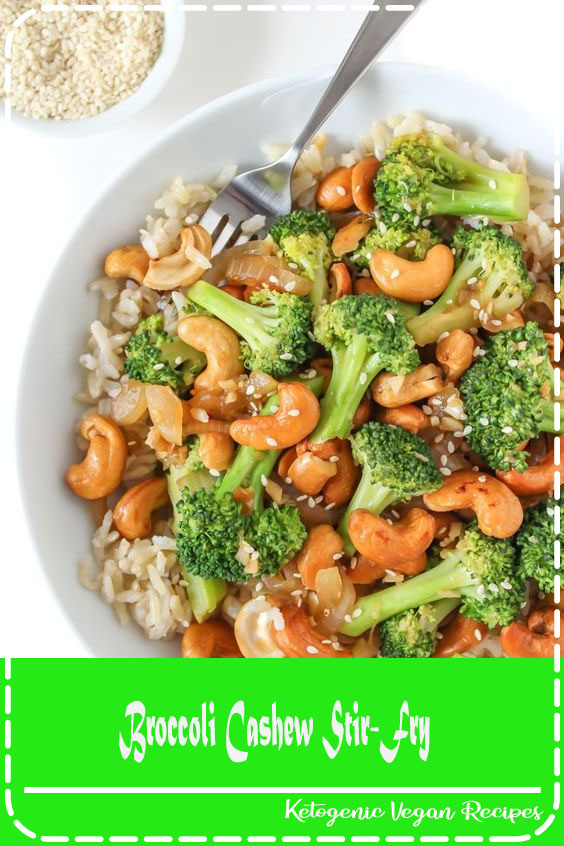 Easy, lightened-up Broccoli Cashew Stir-Fry makes a satisfying 30-minute weeknight meal! A healthy oil-free stir-fry with fresh flavors of garlic & ginger