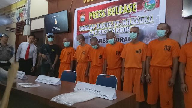 Jaringan Narkoba Malaysia Ditangkap, Polres Sidrap Sita Setengah Kilo Sabu