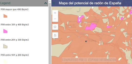 Gas radon en El Espinar