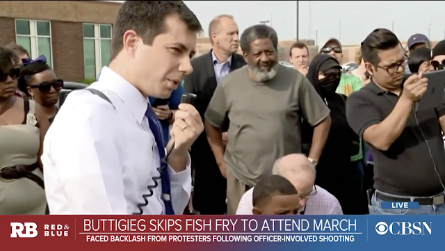 "Pete Buttigieg faces South Bend protesters: ""You want black people to vote for you — that's not going to happen"""