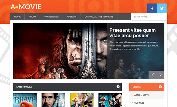 Movie mobile friendly blogger template free download