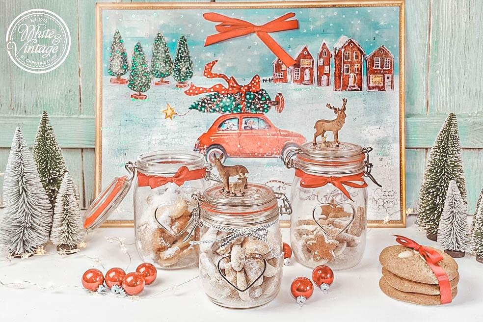 Weihnachtsgecshenk - Weihnachtsplätzchen im Glas