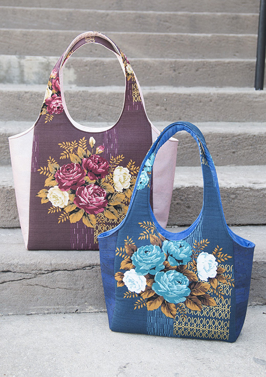 Clydebank Tote Free Pattern designed by Sara Lawson of Sew Sweetness