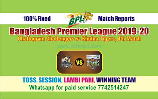 Who will win Today BPL T20, 4th Match Khulna vs Chattogram - Cricfrog