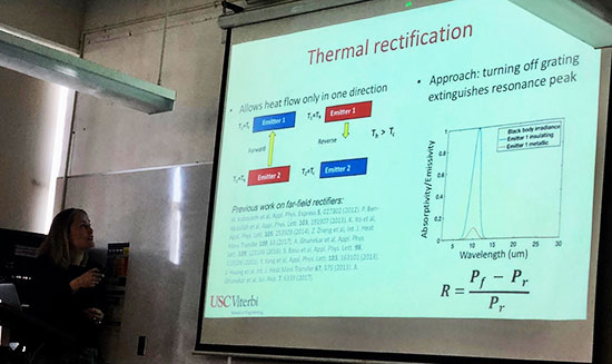 Professor Povinelli explains the very interesting idea of nanostructured thermal diodes (Source: Palmia Observatory)