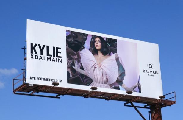 Kylie x Balmain billboard