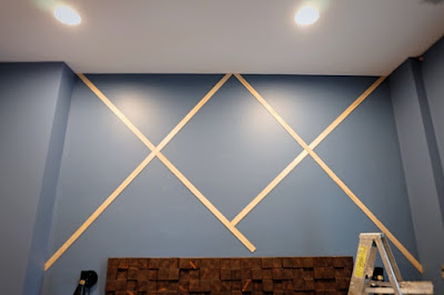 flat stock wall trim x pattern