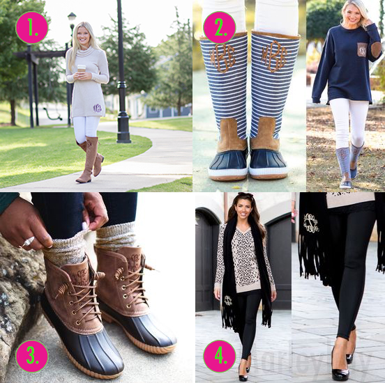 monogram outfits for fall