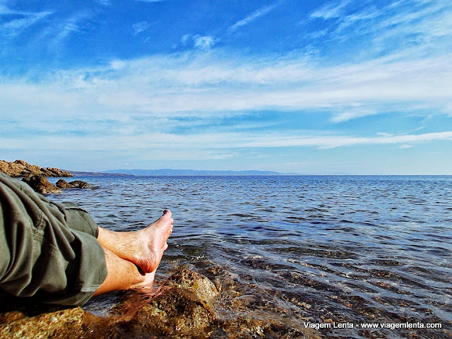 Caminhada recompensada pelo Mar Egeu