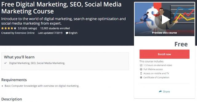 [100% Free] Free Digital Marketing, SEO, Social Media Marketing Course