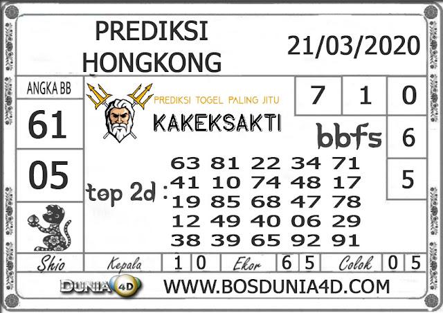 Prediksi Togel HONGKONG DUNIA4D 21 MARET 2020