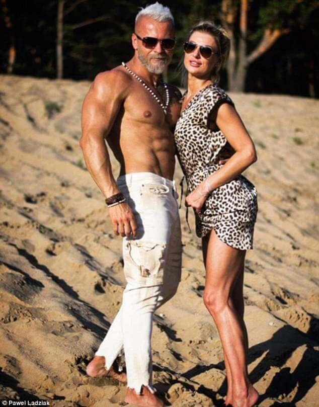 Pawel Ladziak posts photos with her wife