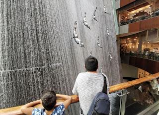Dubái, Emiratos Árabes Unidos. Centro Comercial Dubai Mall. Water Fall.