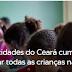 Apenas 21 cidades do Ceará cumprem meta de matricular todas as crianças na pré-escola