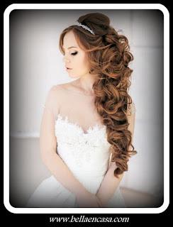Peinados De Novia Pelo Suelto Con Tiara Peinados De Moda