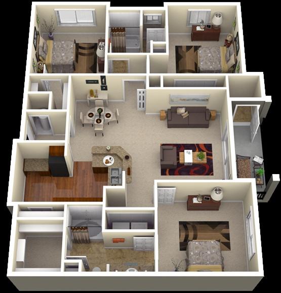 desain rumah idaman dan minimalis dalam bentuk 3d inspirasi impian di masa depan