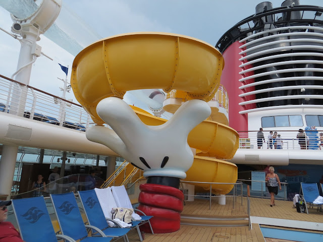Mickey Mouse Slide Onboard the Disney Dream Cruise Ship