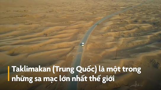 Sa mạc lớn nhất Trung Quốc nhìn từ trên cao