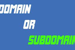 Buat Blog Domain atau Subdomain - TLD atau Blogspot.com ?