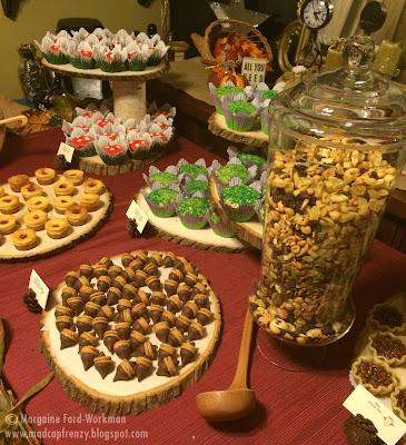 Woodland Creature Baby Shower food dessert table