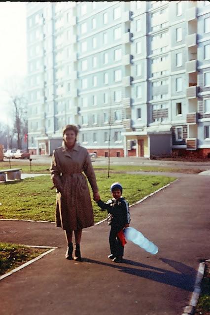 1989 год. Рига. Золитуде. На улице Русес. Фото: Юлия и Андрей Воротынцевы