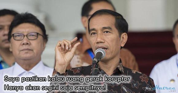 Jokowi pastikan Perkuat KPK, Koruptor dijamin mati kutu di bawah Pimpinan Jokowi