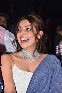 ranarangam telugu movie actress kajal agarwal in blue lehenga choli boos show Pictures9