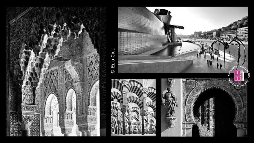 L'Alhambra di Granada - La moschea di Cordoba - La cattedrale di Siviglia - Il Guggenheim Museum a Bilbao