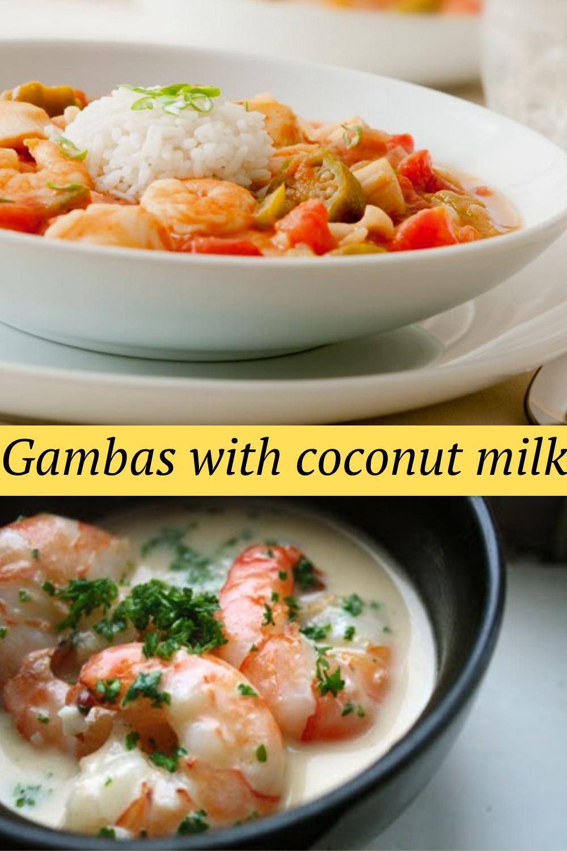 Gambas with coconut milk