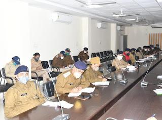 पुलिस अधीक्षक ने जिले में पदस्थ समस्त राजपत्रित अधिकारियों एवं शहर थाना प्रभारियों की ली बैठक