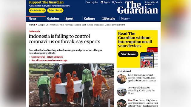 Disorot Media Asing, Indonesia Disebut Gagal Kendalikan Virus Corona