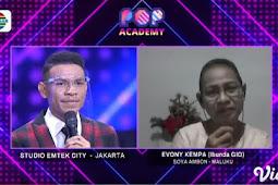 Evony Kempa Rahanserang Bangga Gio Ambon Masuk Babak 15 Besar Pop Academy Indosiar