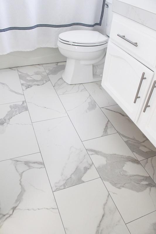 installing bathroom floor tiles