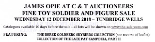 'James Opie' Sale; 12th December Sale; African Mounted Infantry; Aircraft Kits; Announcements; Auction News; Britains Hollow Cast; British Army Toy; C & T Auctions; C & T website; Derek Goldberg Collection; Dr Jameson and the African Mounted Infantry.; Fine Toy Soldier & Figure Sale; Hollow Cast Toy; Hollow Horse Types; Hollow-Cast; James Opie; Lot 23; News; News Views Etc...; Small Scale World; smallscaleworld.blogspot.com; www.candtauctions.co.uk; www.the-saleroom.com;