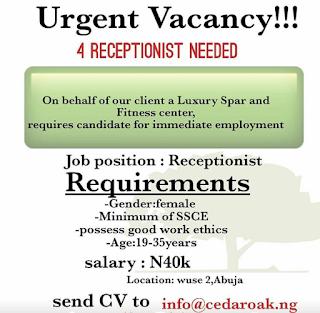 Job Opening: Cedar Oak Multi Services Ltd  is Recruiting.