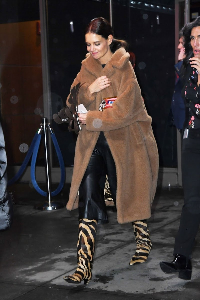 Katie Holmes Leaves Z100's Jingle Ball 2019 in New York 13 Dec-2019